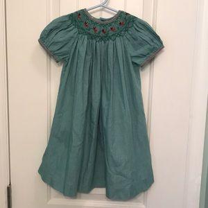Adorable Smocked Lady Bug Dress size 2